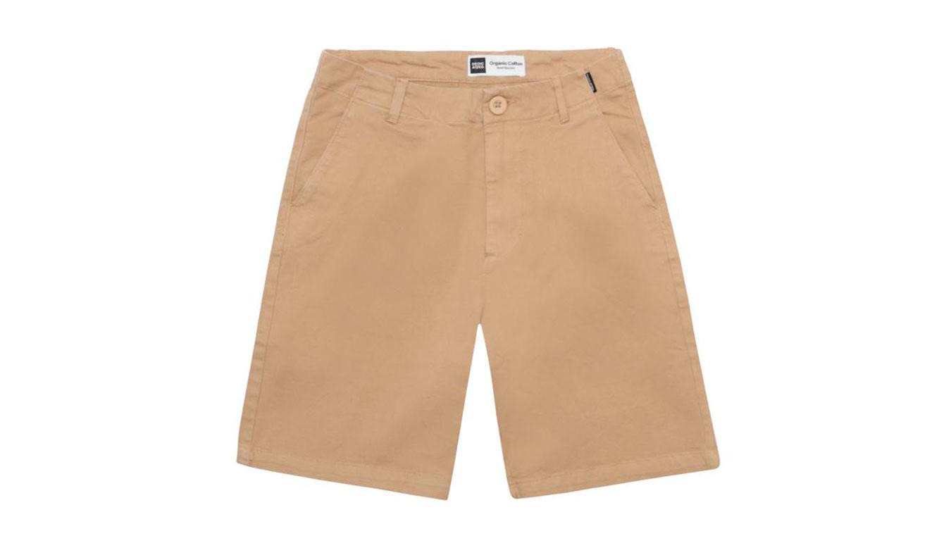 Dedicated Chino Shorts Nacka Khaki svetlohnedé 16304 - vyskúšajte osobne v obchode