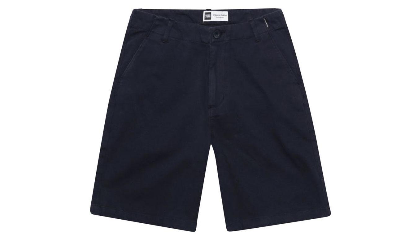 Dedicated Chino Shorts Nacka Navy modré 16305 - vyskúšajte osobne v obchode