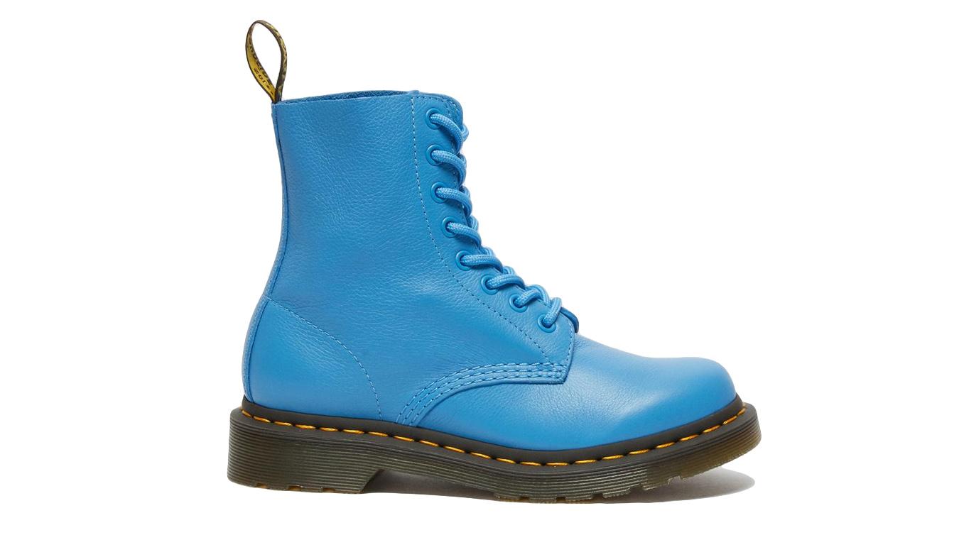 Dr. Martens 1460 Pascal Virginia Leather Boots modré DM26902416 - vyskúšajte osobne v obchode