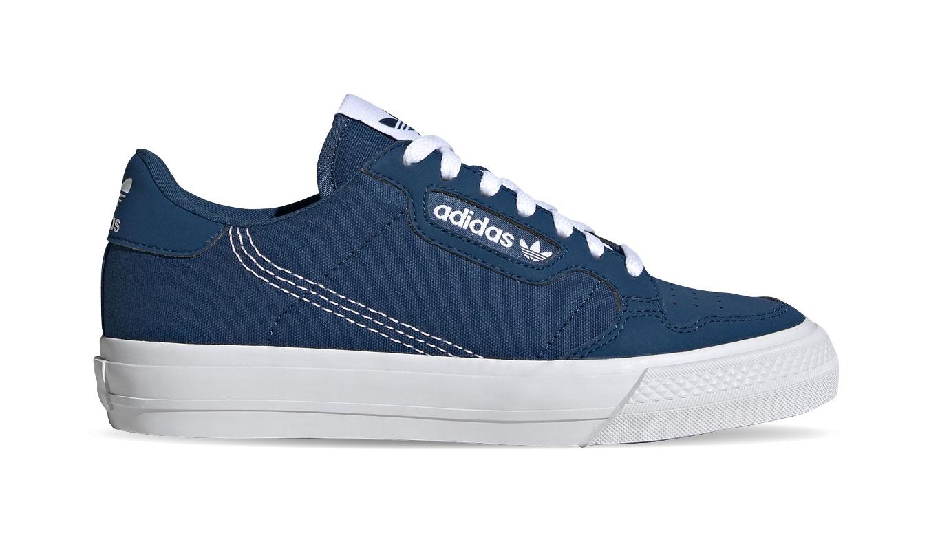 adidas Continental vulc Junior modré EG0511 - vyskúšajte osobne v obchode