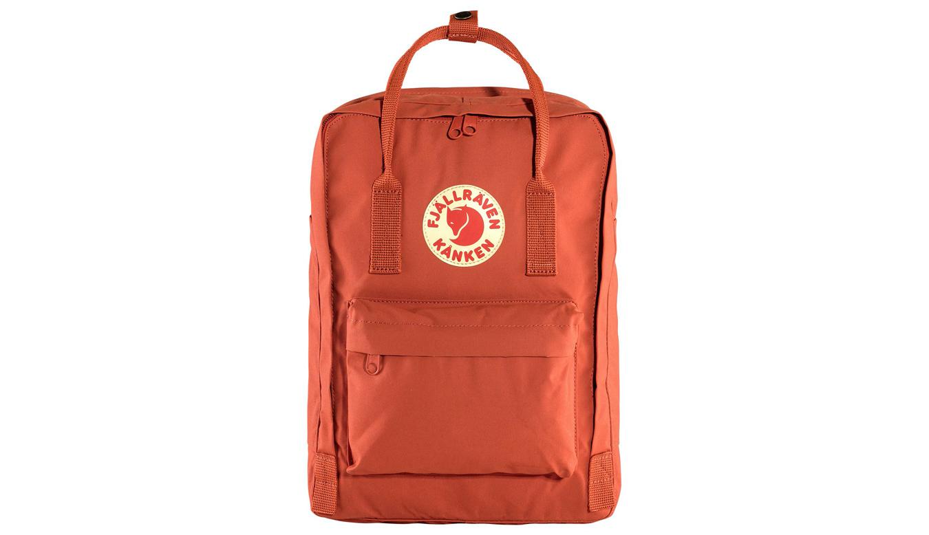 """Fjällräven Kånken Laptop 17"""" Rowan Red oranžové F27173-333 - vyskúšajte osobne v obchode"""