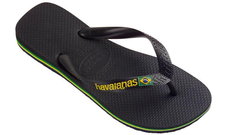 Flip flopy Havaianas Brasil Logo Black