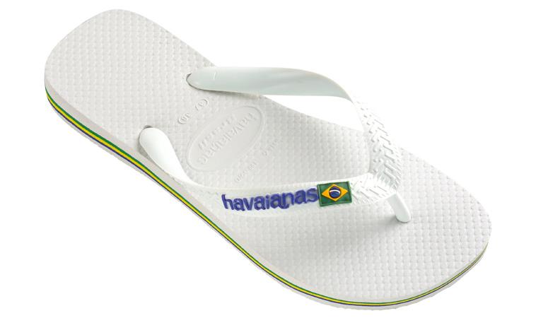 Flip flopy Havaianas Brasil Logo White