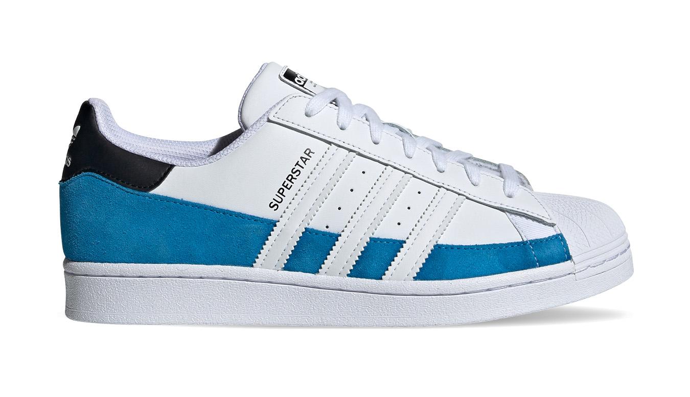 adidas Superstar Bright Blue/Ftwr White/Core Black biele FX5571 - vyskúšajte osobne v obchode