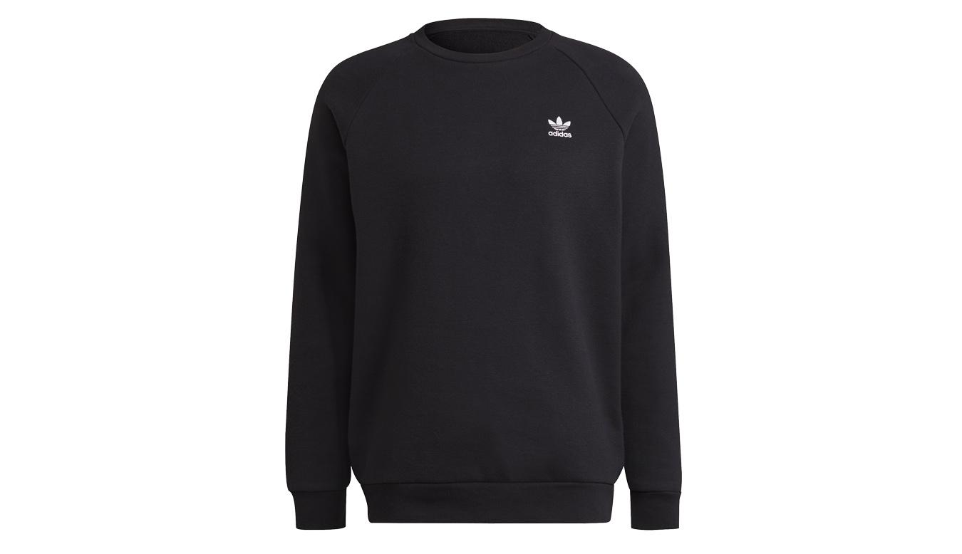 adidas Essential Trefoil Crewneck Sweatshirt čierne H34645 - vyskúšajte osobne v obchode
