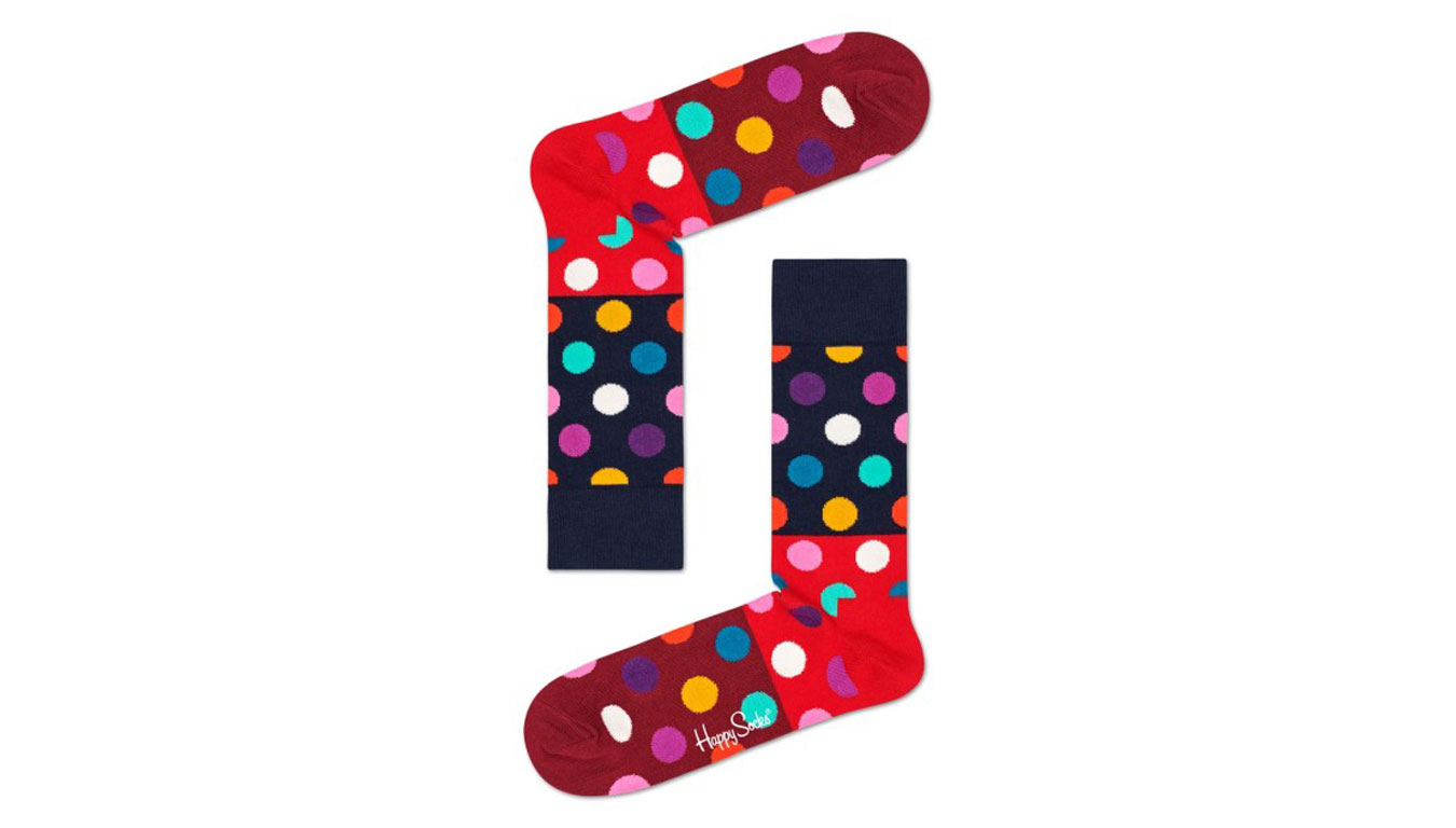 Happy Socks Big Dot Block Sock tenisky