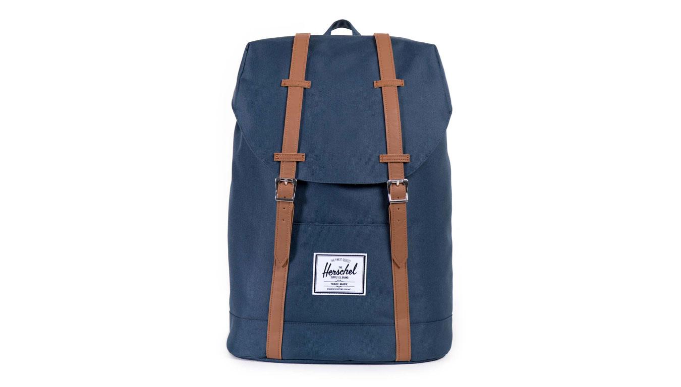 Herschel Supply Retreat Navy Tan Synthetic Leather modré 10066-00007-OS - vyskúšajte osobne v obchode