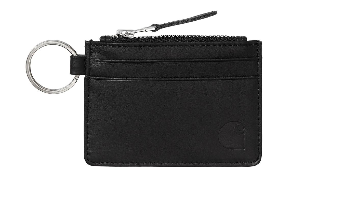 Carhartt WIP Leather Wallet With m Ring čierne I028724_89_00 - vyskúšajte osobne v obchode