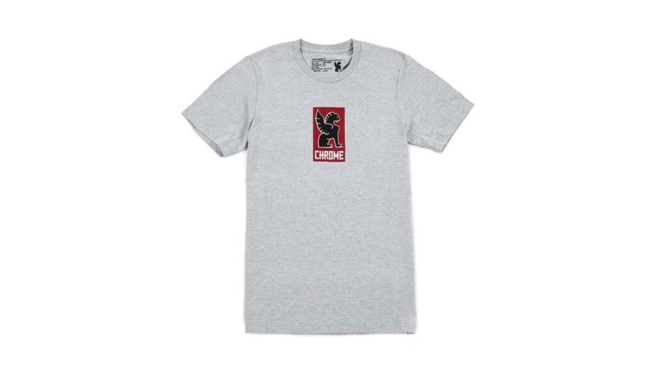 Chrome Industries Lock Up T-Shirt šedé AP-143-HGY - vyskúšajte osobne v obchode