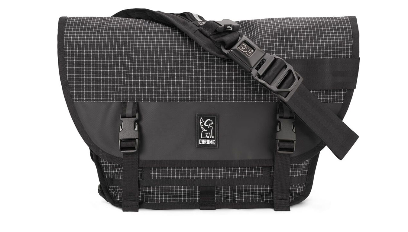 Chrome Mini Metro Messanger Bag Grid čierne BG-001-GRID-NA