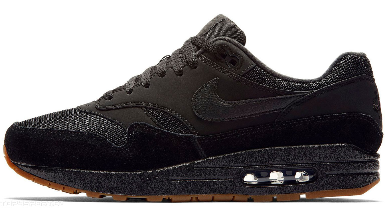 cheaper 62483 cb767 Nike Air Max 1 Black Black-Black-Gum Med Brown AH8145-007 čierne AH8145-007