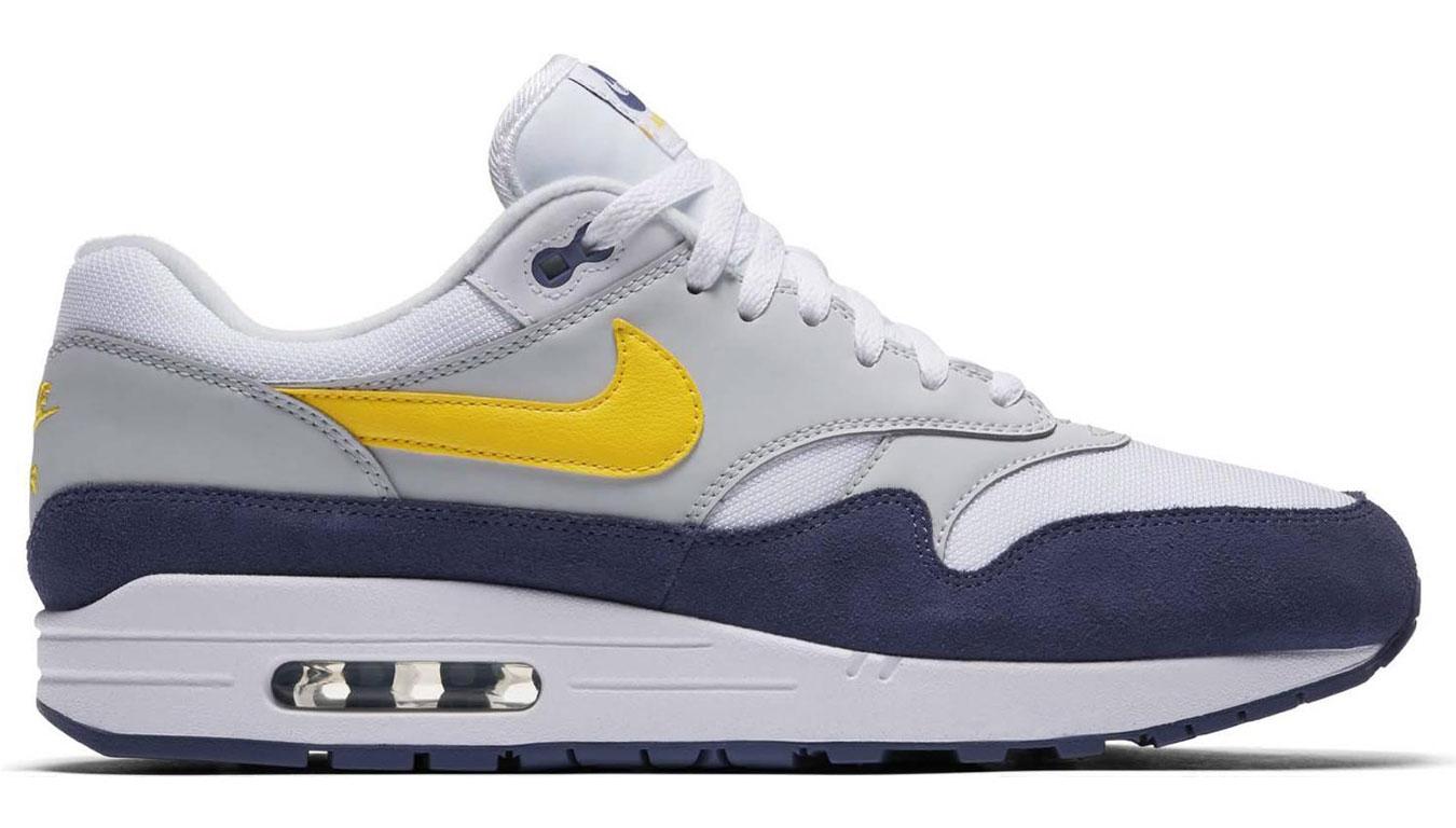 361d1570e6e Nike Air Max 1 White Tour Yellow-Blue Recall AH8145-105 farebné AH8145
