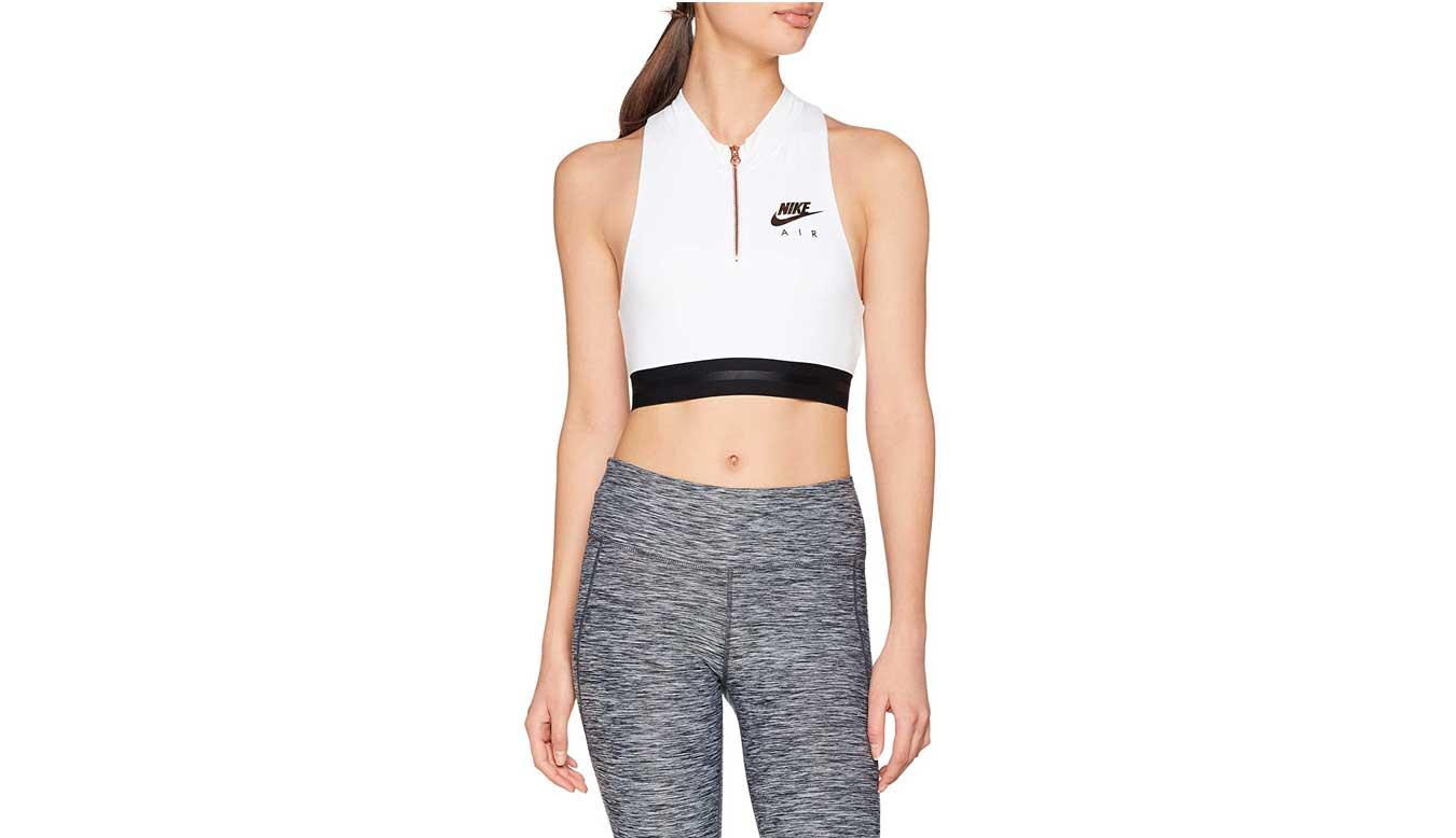 Nike Sportswear Bra Women Crop Top White biele 930537-100 - vyskúšajte osobne v obchode