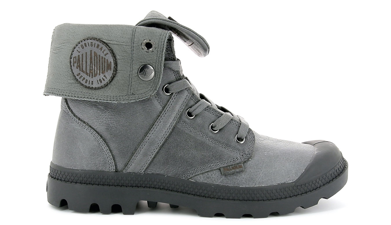Palladium Boots Pallabrouse Baggy L2 Leather French Metal šedé 73080-021-M