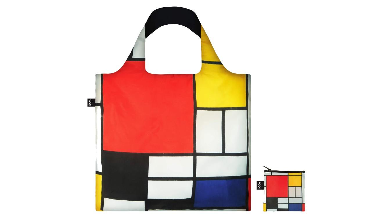 Loqi PIET MONDRIAN Composition Red Yellow Blue Black Bag farebné PM.CO - vyskúšajte osobne v obchode