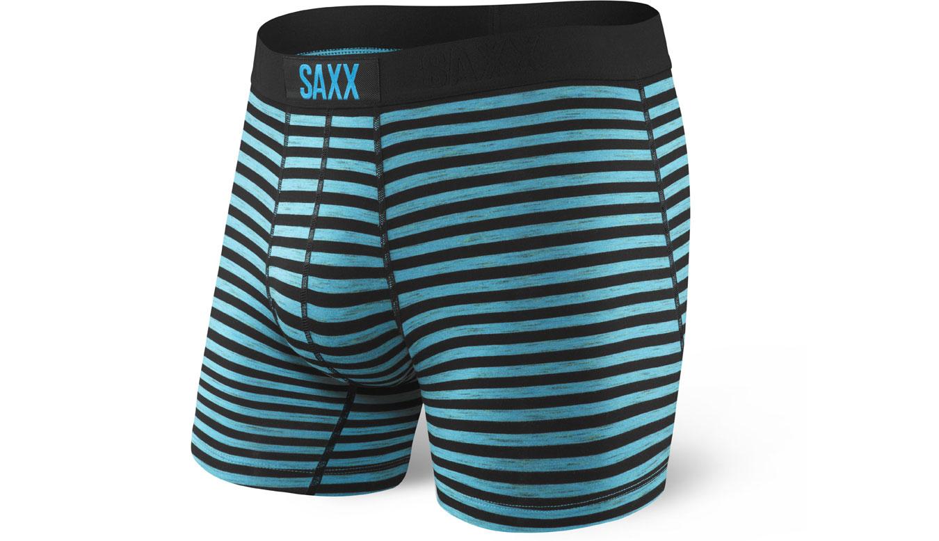 Saxx Vibe Boxer Black Space Hiker Stripe tyrkysové SXBM35KSH - vyskúšajte osobne v obchode