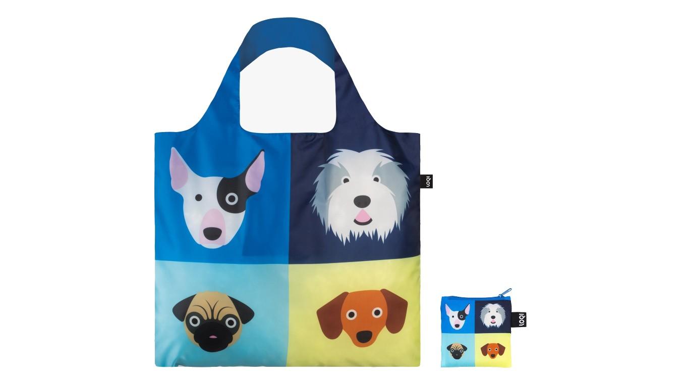 Loqi STEPHEN CHEETHAM Dogs Bag modré SC.DO - vyskúšajte osobne v obchode