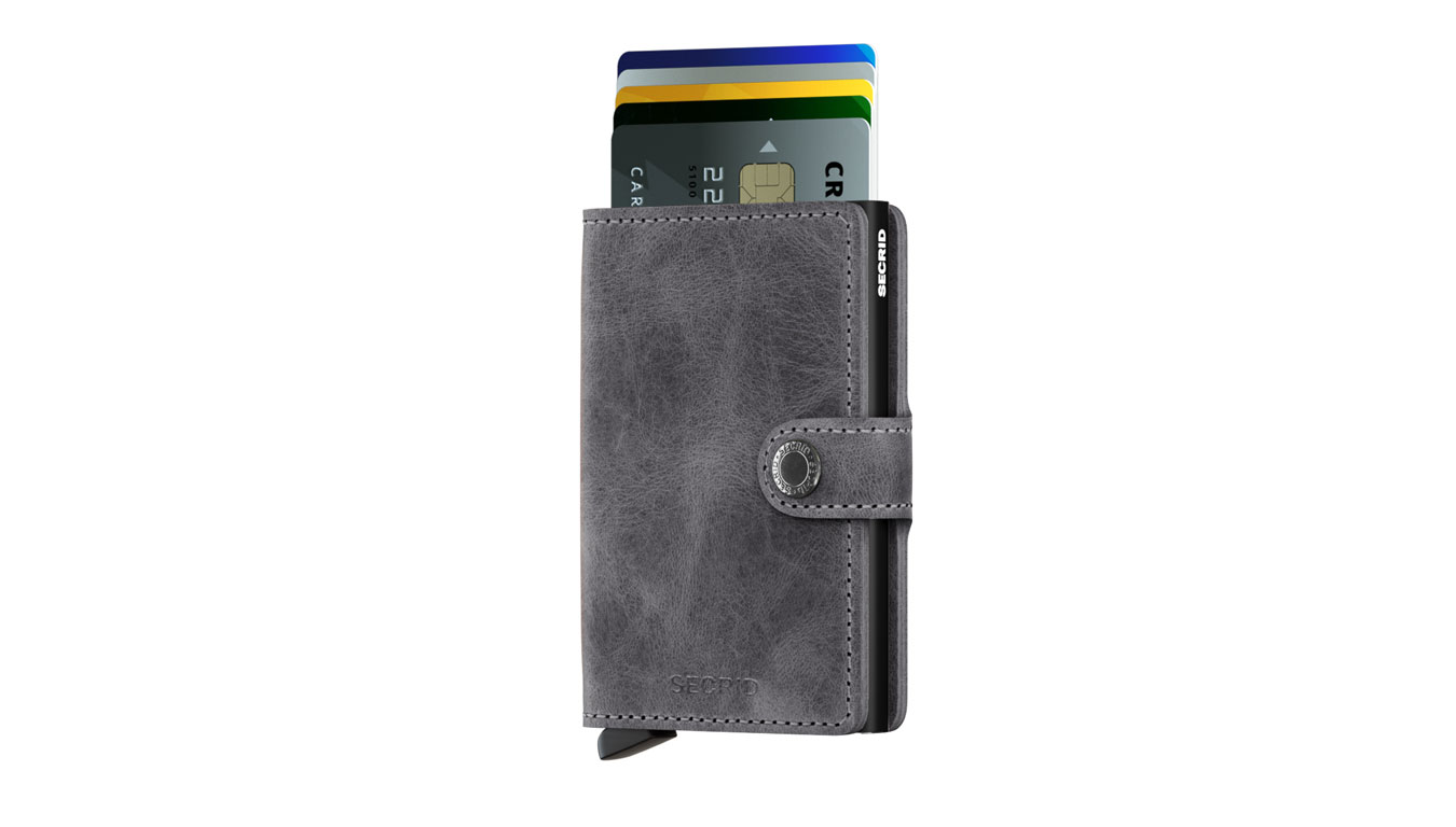 Secrid Miniwallet Vintage Grey Black šedé MV-Grey-Black