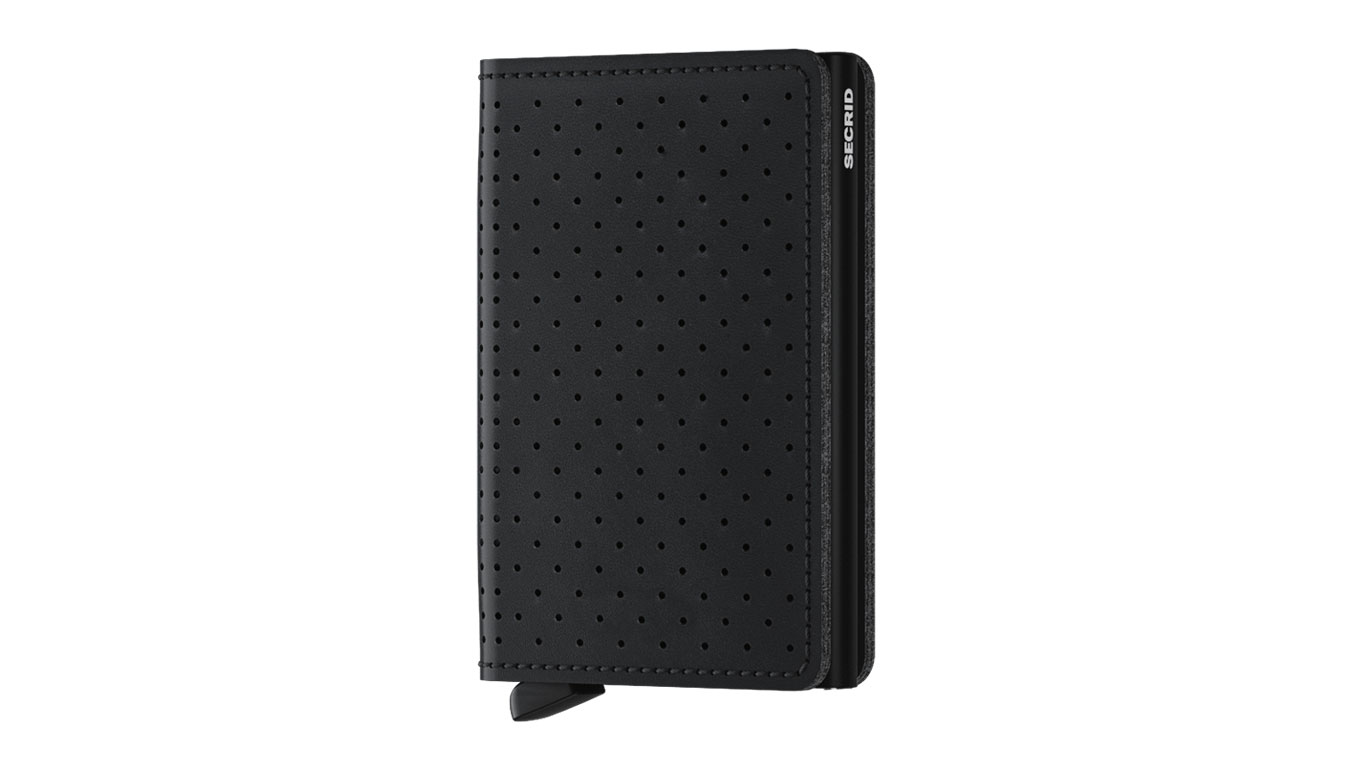 Secrid Slimwallet Perforated Black čierne SPf-Black