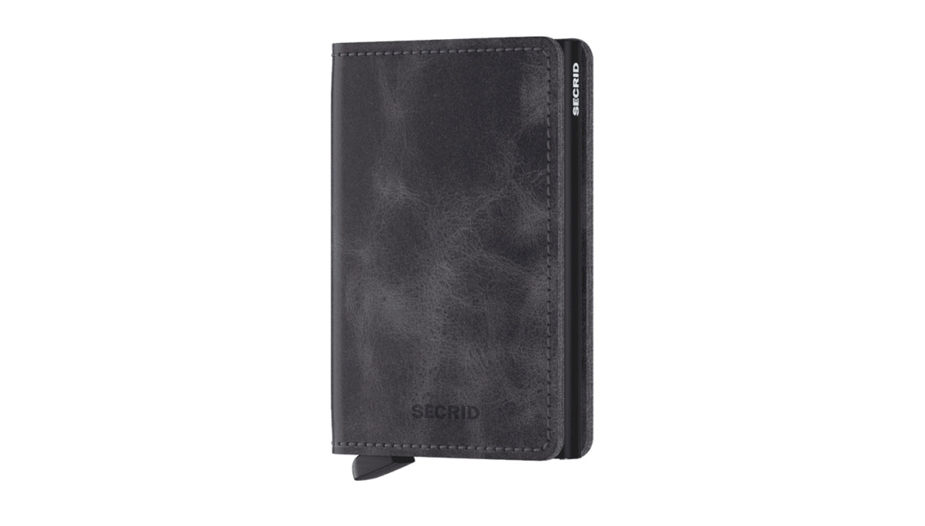 Secrid Slimwallet Vintage Grey-Black čierne SV-Grey-Black