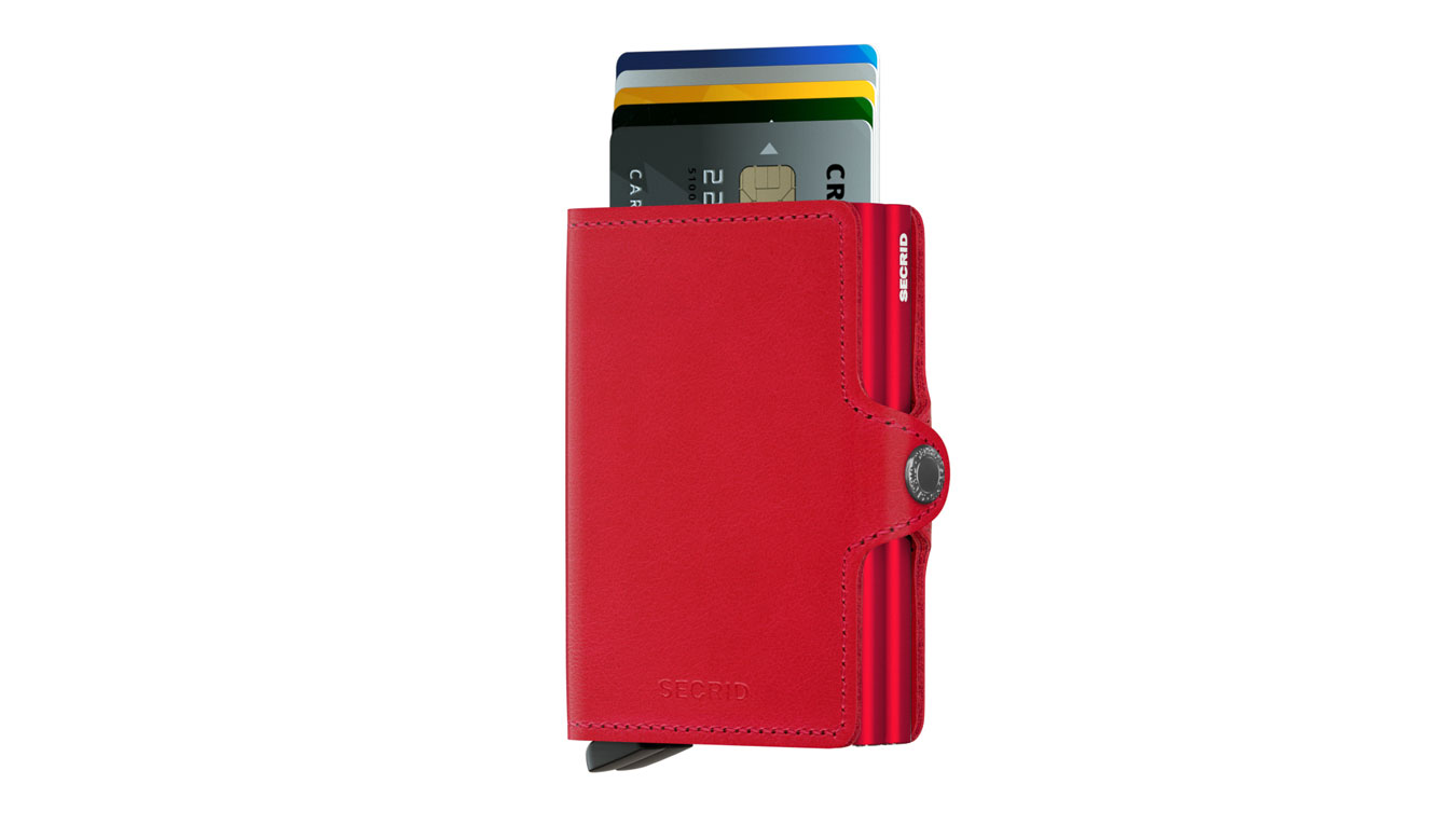 Secrid Twinwallet Original Red-Red hnedé TO-RED-RED