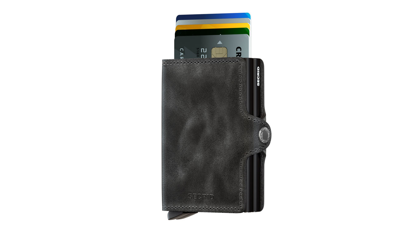 Secrid Twinwallet Vintage Black hnedé TV-BLACK