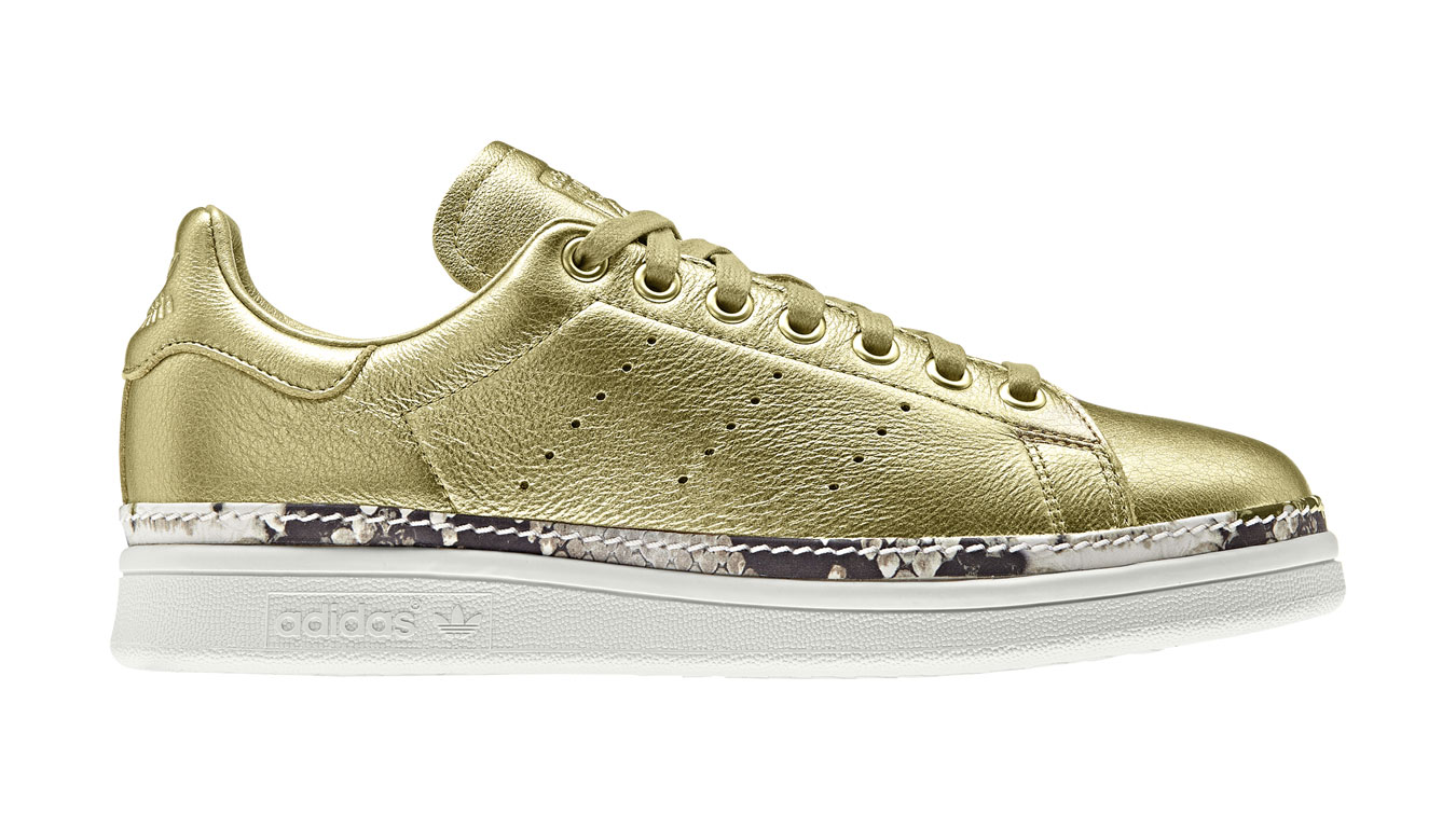 Stan Smith New Bold W Gold hnedé F34120