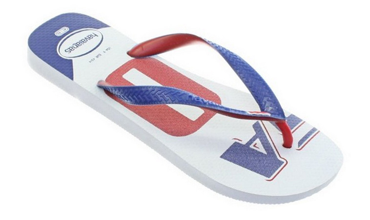 Flip flopy Havaianas Teams White blue Red