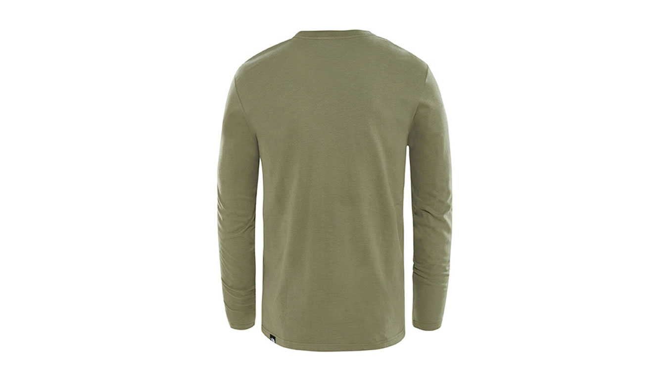 9c82590adcdb05 The North Face M L S Fine Tee New Taupe Green zelené T937FT21L