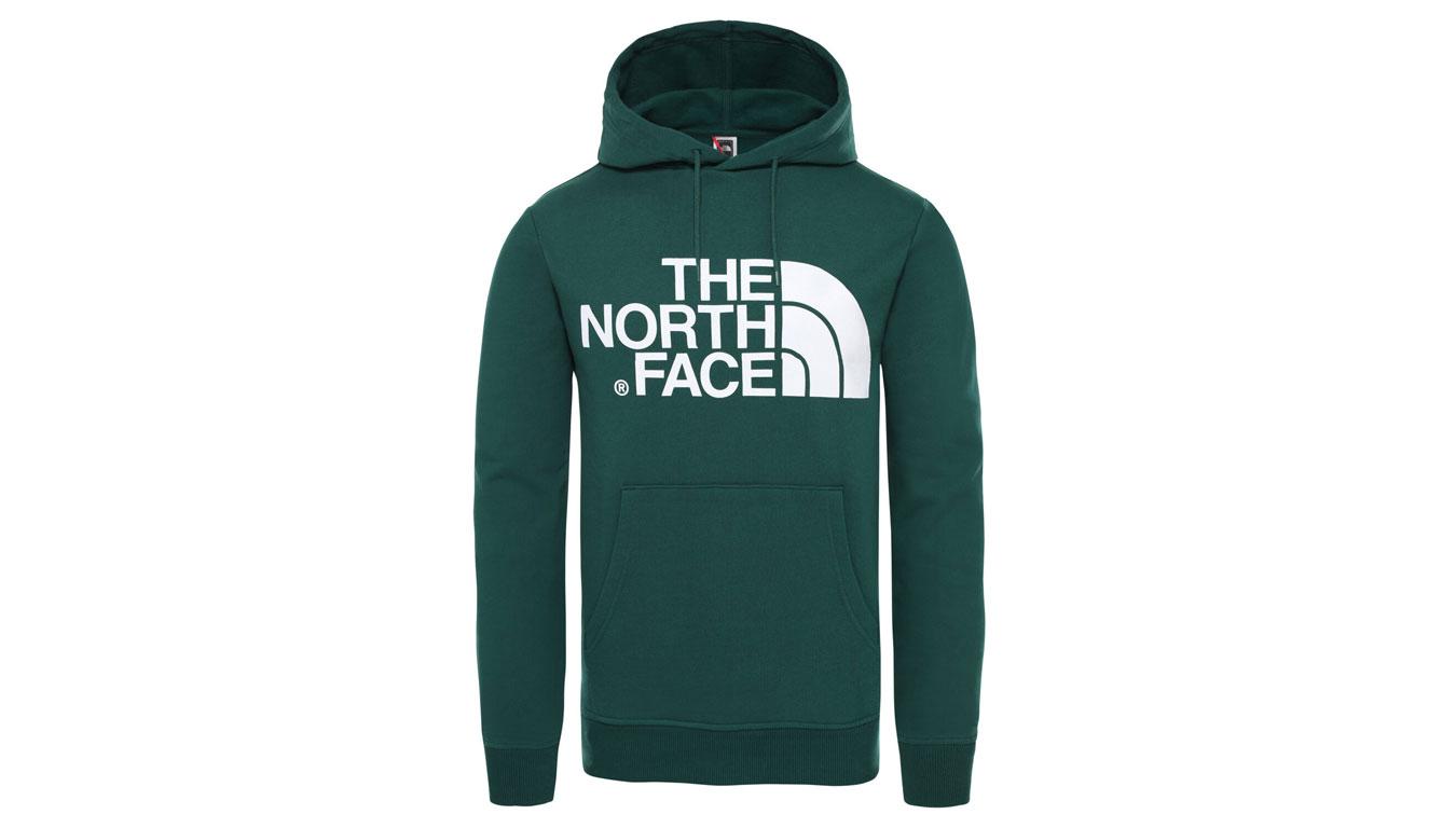 The North Face M Standart Hoodie Night Green zelené T93XYDN3P