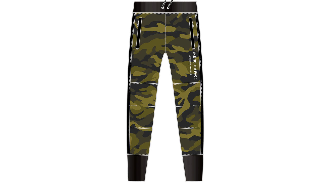 The North Face W Graphic Pant zelené NF0A3MJVFQ9