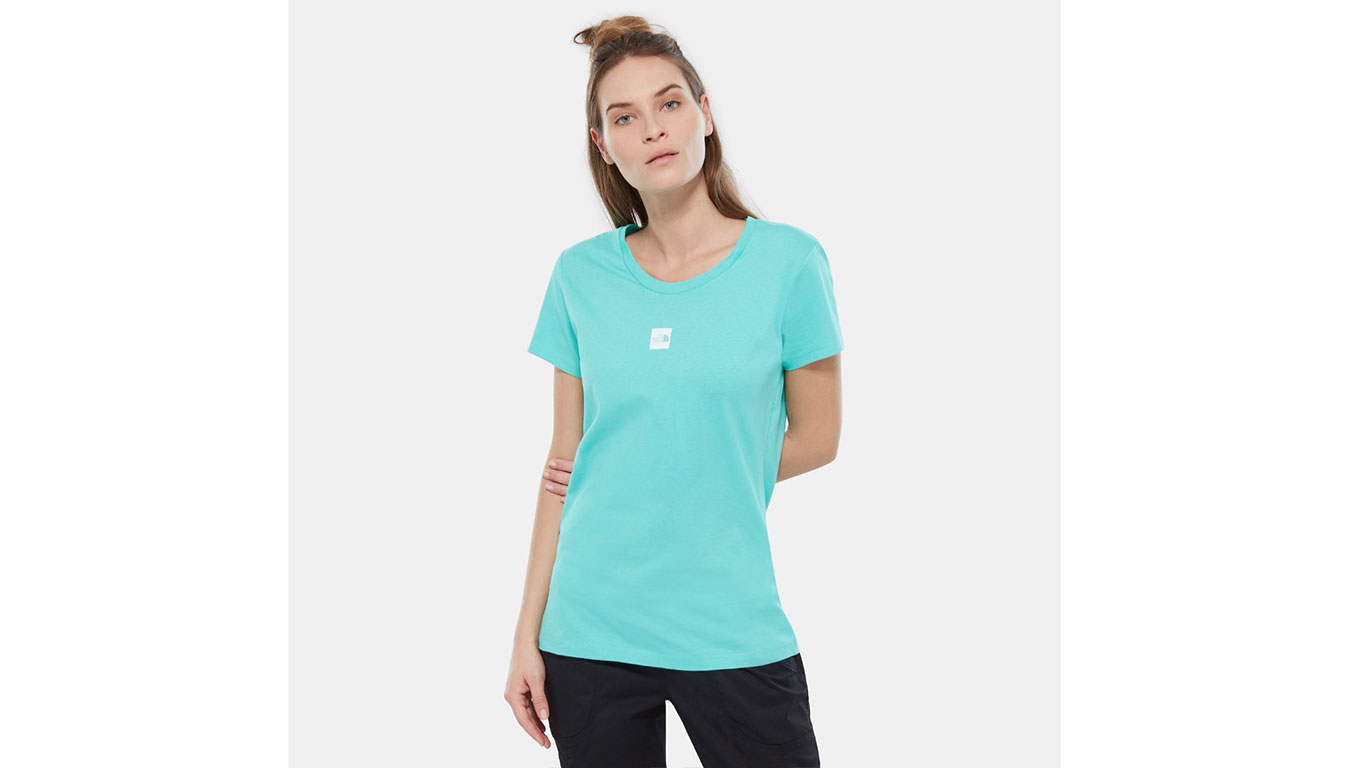 The North Face W SS Fine Tee Retro Green tyrkysové T93YIGN0Q