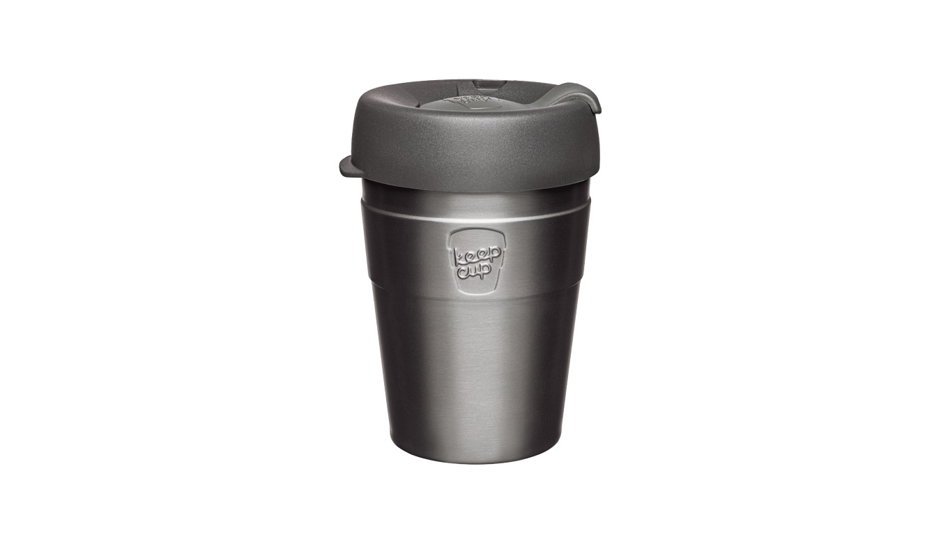 KeepCup Thermal Stainless Steel M/12 oz šedé TNIT12 - vyskúšajte osobne v obchode