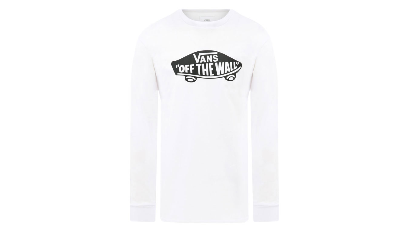 Vans MN Off The Wall Long Sleeve biele VN00059JYB2