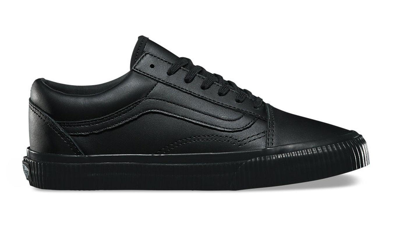 Vans Old Skool All Black Leather čierne VA38G1ODX - vyskúšajte osobne v obchode