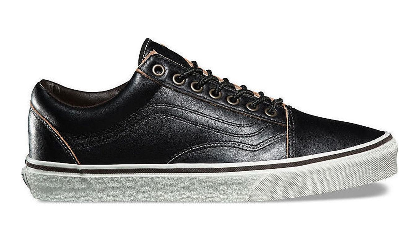 Vans Old Skool All Black Leather čierne VA38G1OE6 - vyskúšajte osobne v obchode