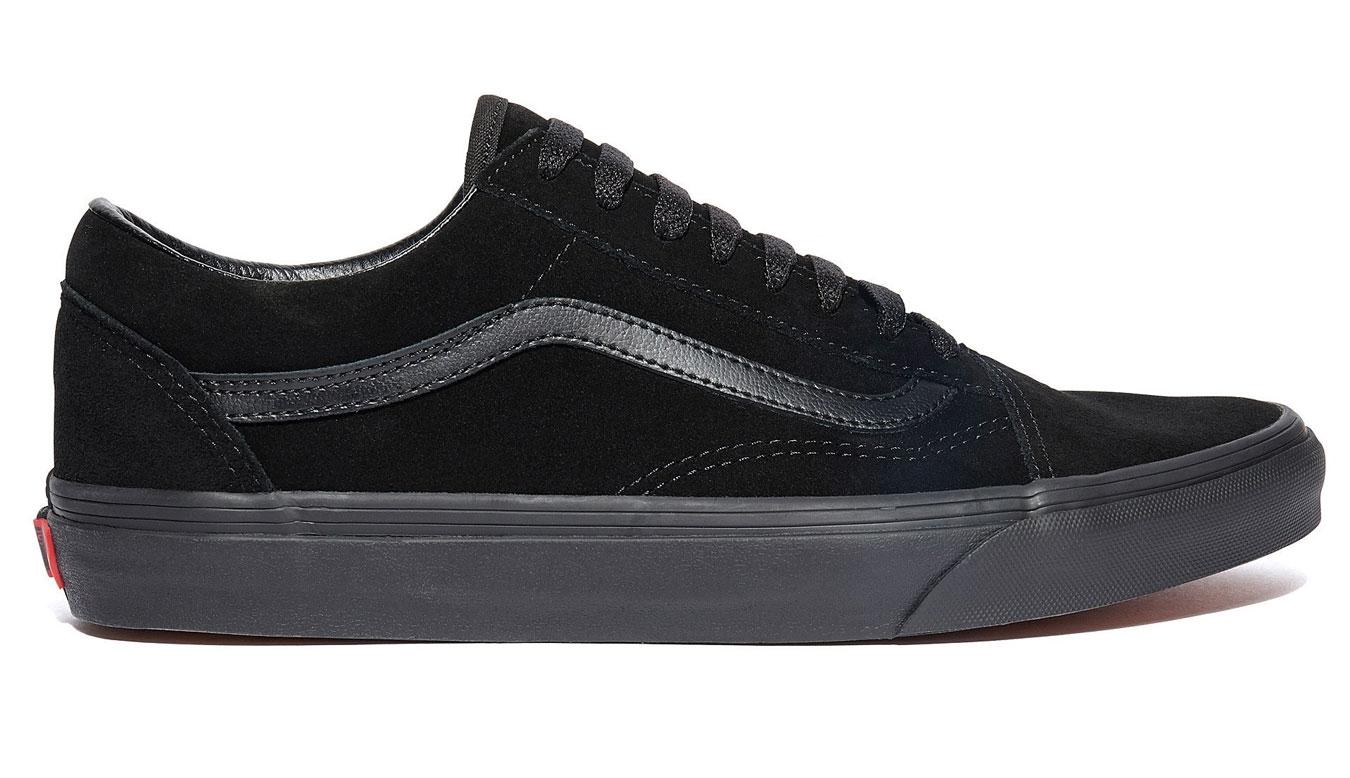 Vans Old Skool Suede Triple Black Leather čierne VA38G1NRI - vyskúšajte osobne v obchode