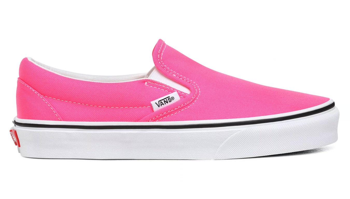Vans Ua Classic Slip-On (Neon)Knockout Pnk/Tr Wht ružové VN0A4U38WT6 - vyskúšajte osobne v obchode