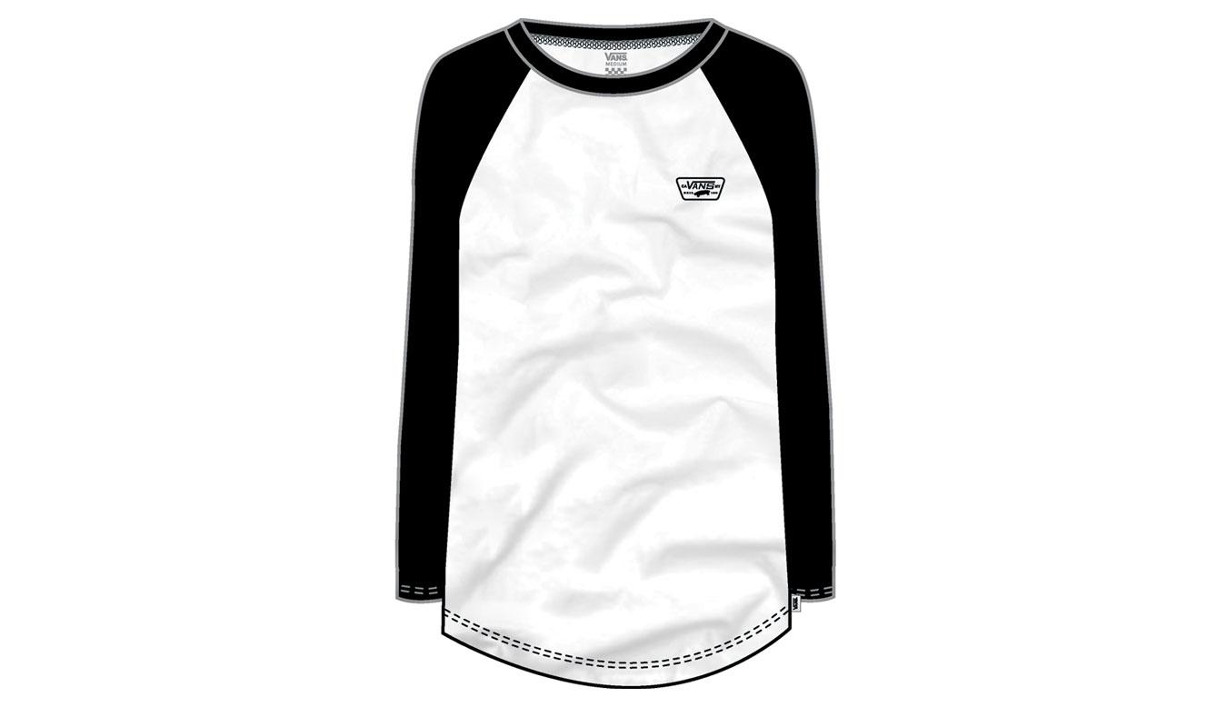Vans Wm Full Patch Ls Raglan White/Black biele VN0A3T9EYB2 - vyskúšajte osobne v obchode
