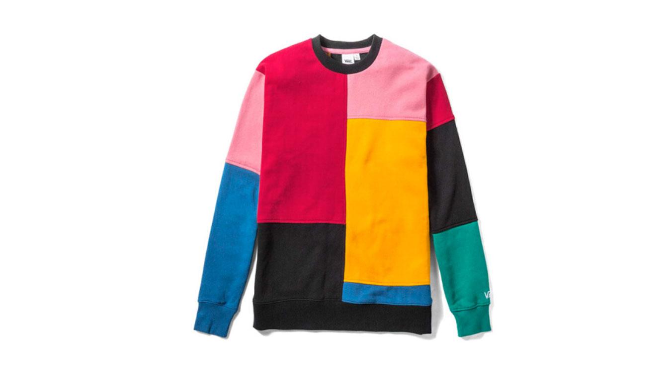 Vans Wm Patchy Crew Patchwork farebné VN0A3UMVUUW - vyskúšajte osobne v obchode