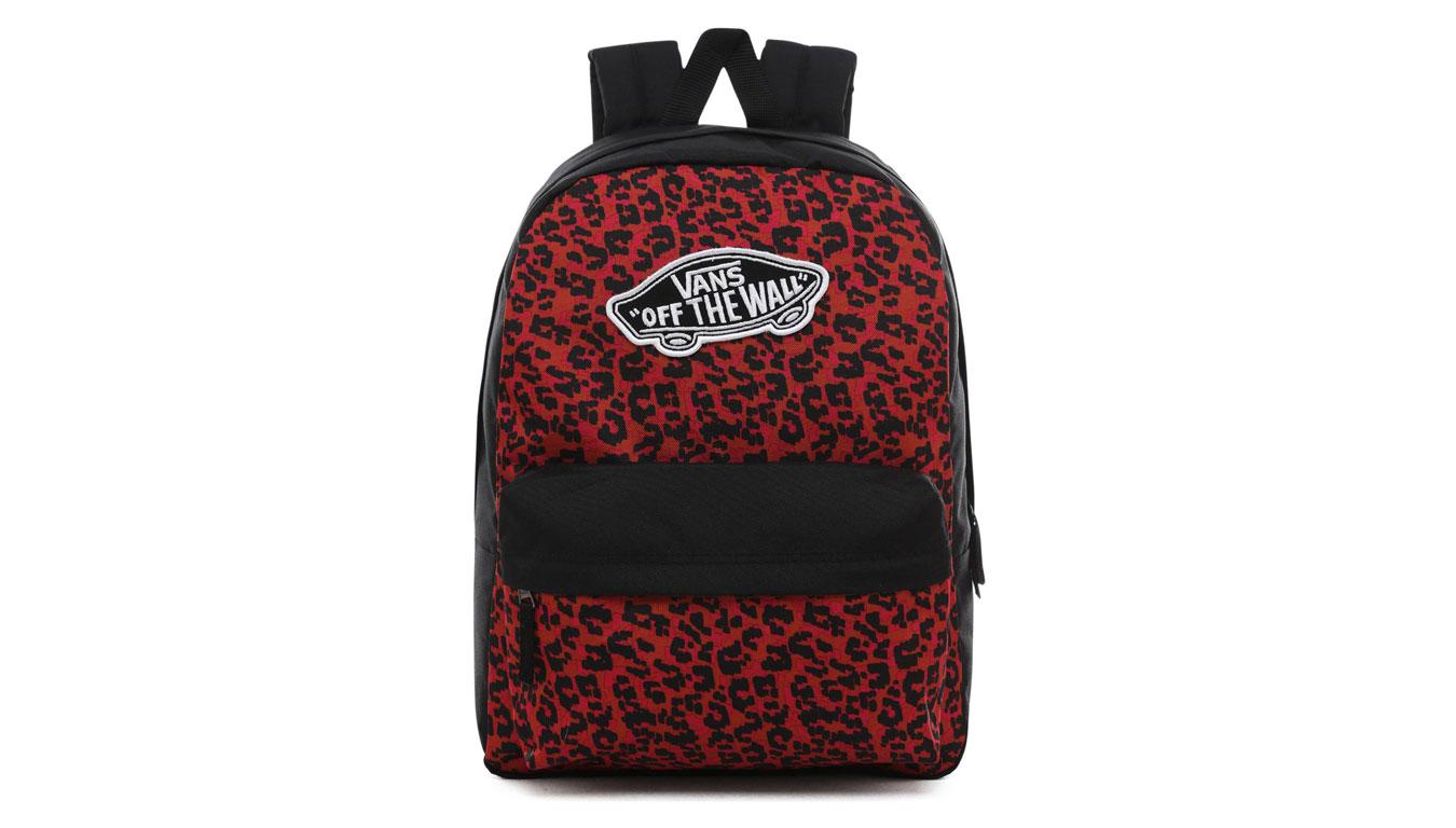 Vans Wm Realm Backpack červené VN0A3UI6UY1 - vyskúšajte osobne v obchode