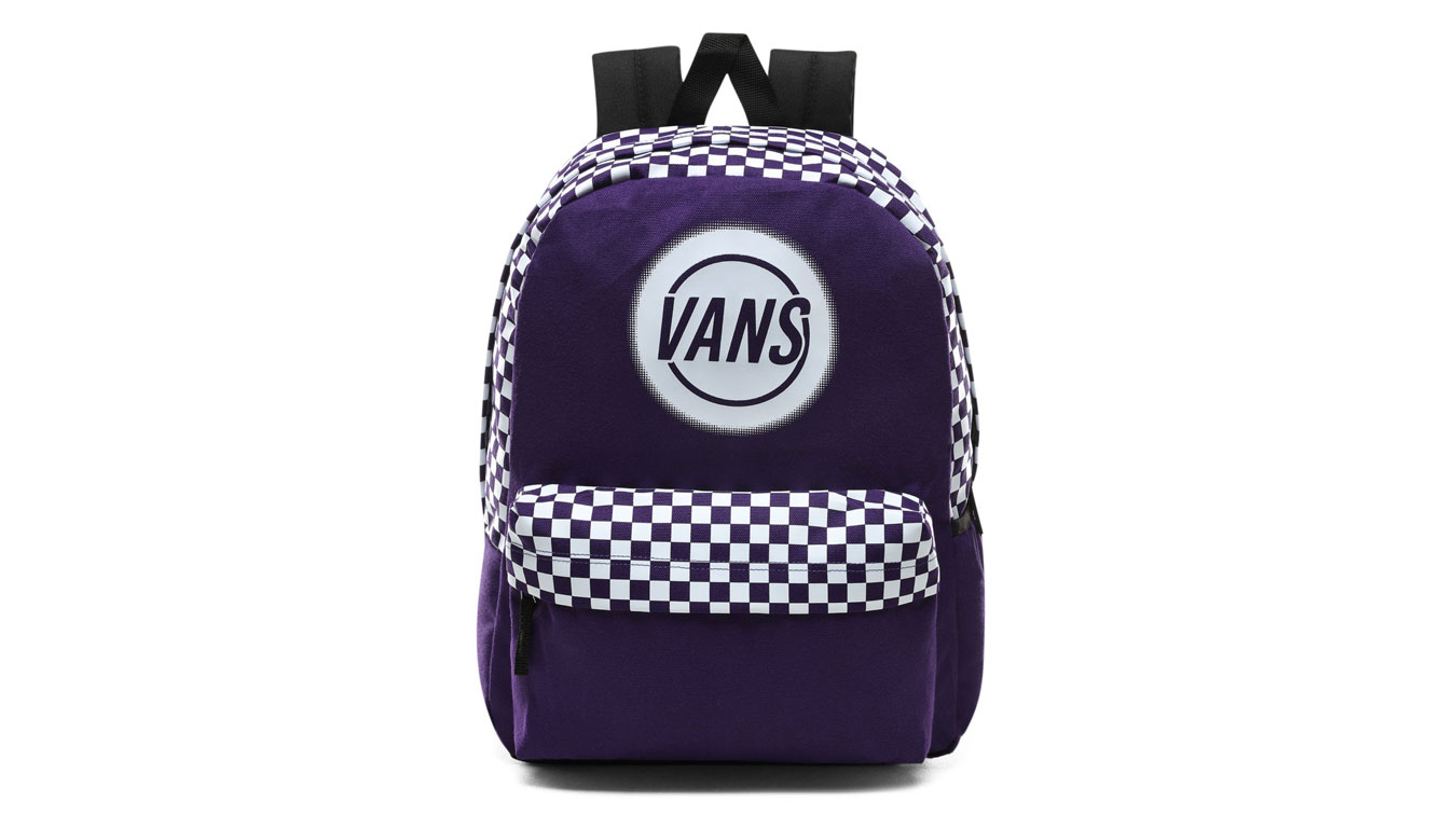 Vans Wm Taper Off Realm Backpack fialové VN0A48GMSF5 - vyskúšajte osobne v obchode