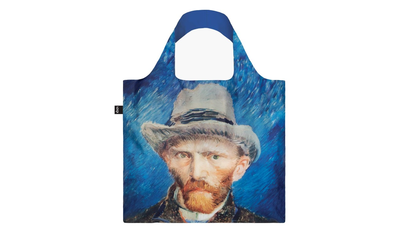 Loqi VINCENT VAN GOGH Self Portrait with Grey Felt Hat Bag modré VG.SP - vyskúšajte osobne v obchode