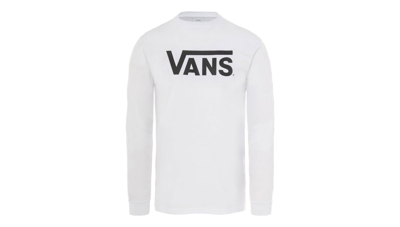 Vans Mn Classic Ls White/Black biele VN000K6HYB2 - vyskúšajte osobne v obchode