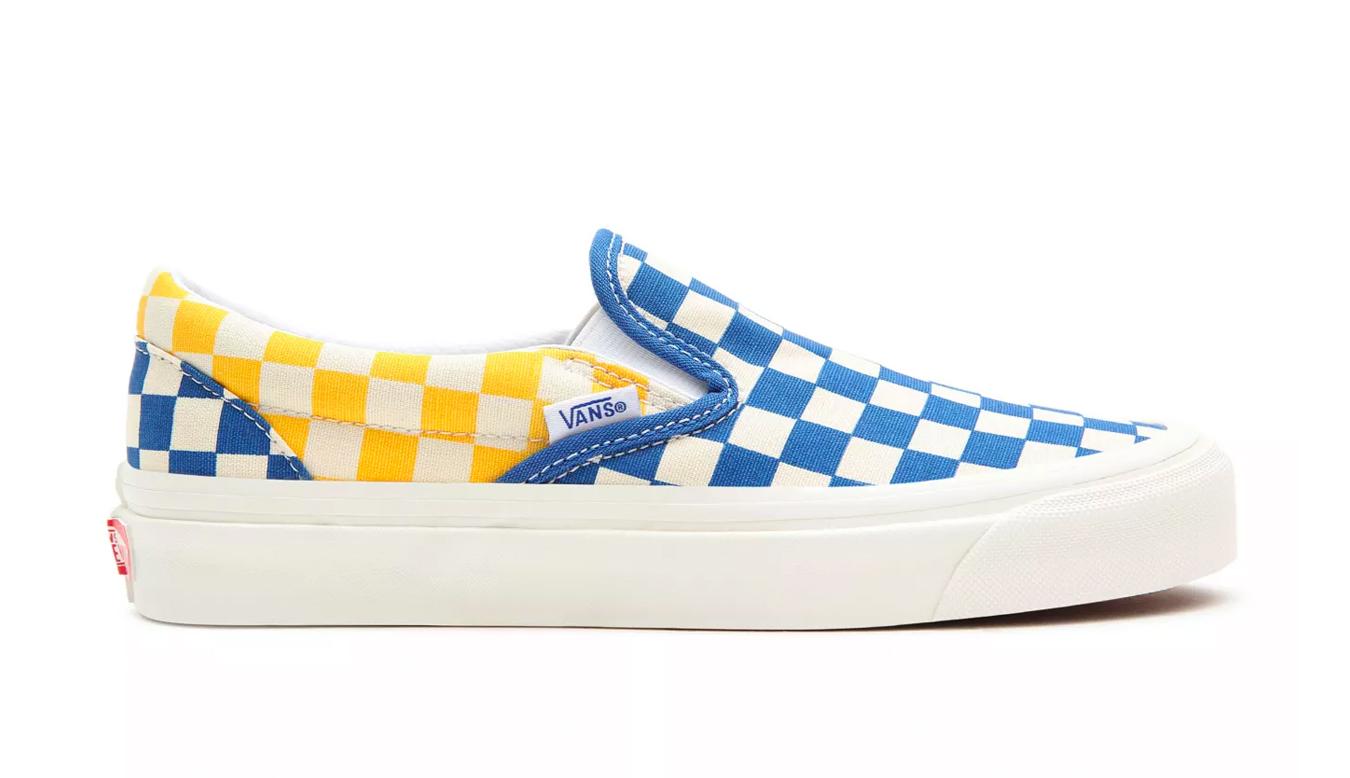 Vans Classic Slip-On (Anaheim Factory) Og Blue/Og Yellow farebné VN0A3JEX45U - vyskúšajte osobne v obchode