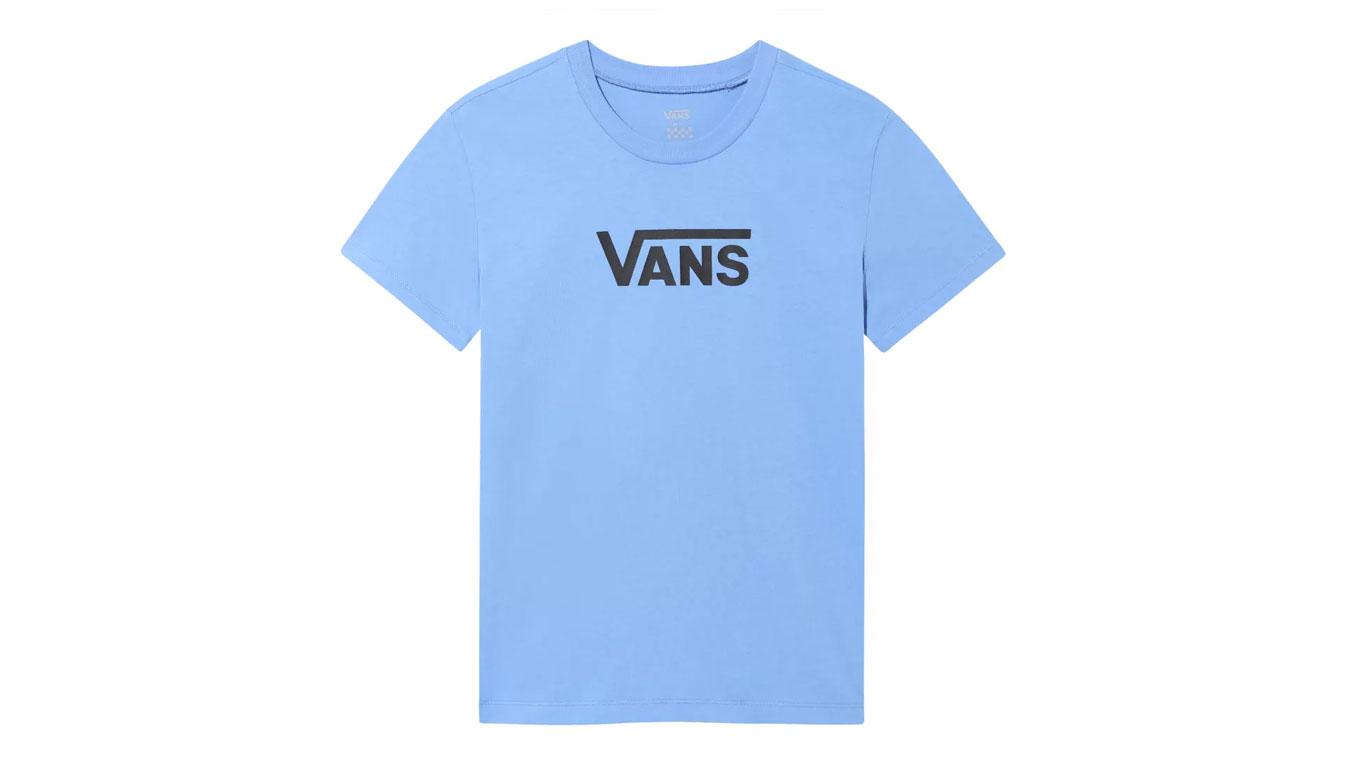 Vans Wm Flying V Crew Tee Ultramarine modré VN0A3UP4ULT - vyskúšajte osobne v obchode