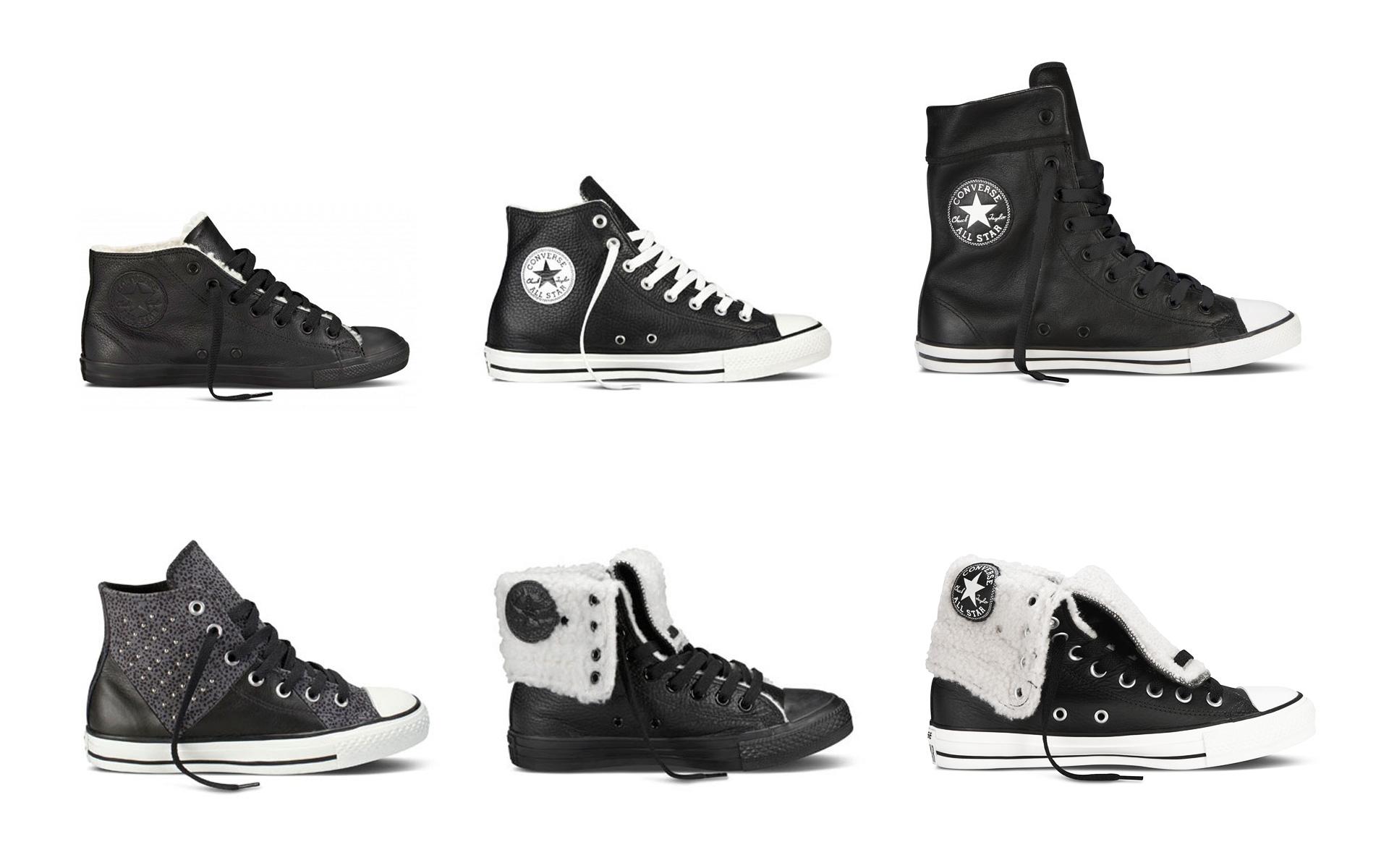 3b22e36f7ff Kožené čierne Converse